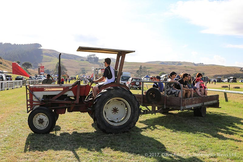 Hay rides from the carpark
