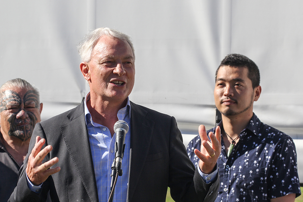 Auckland Mayor Phil Goff at the 2021 Helensville Show