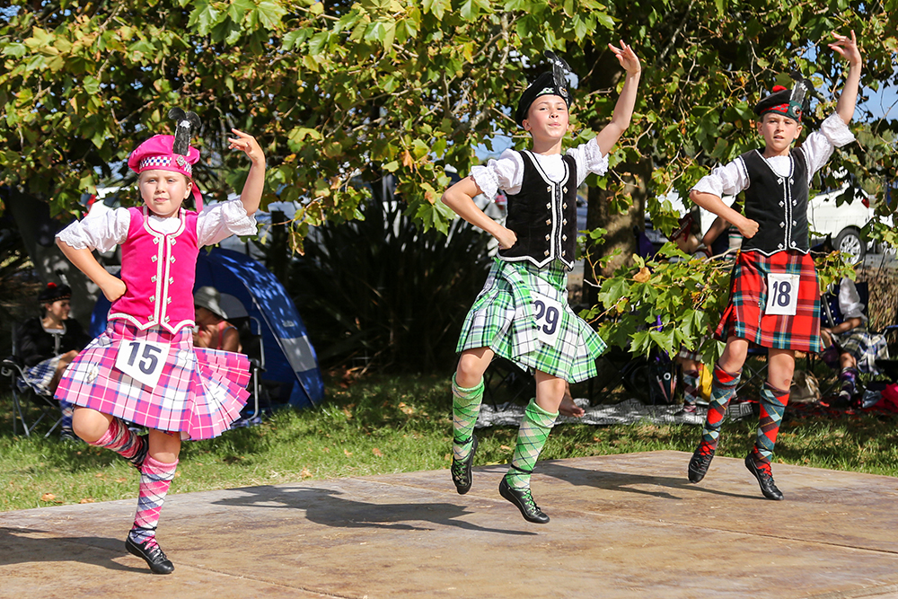 Highland dancing at the 2021 Helensville Show