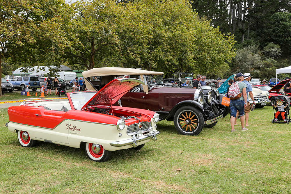 North Shore Vintage Car Club display at the 2021 Helensville Show