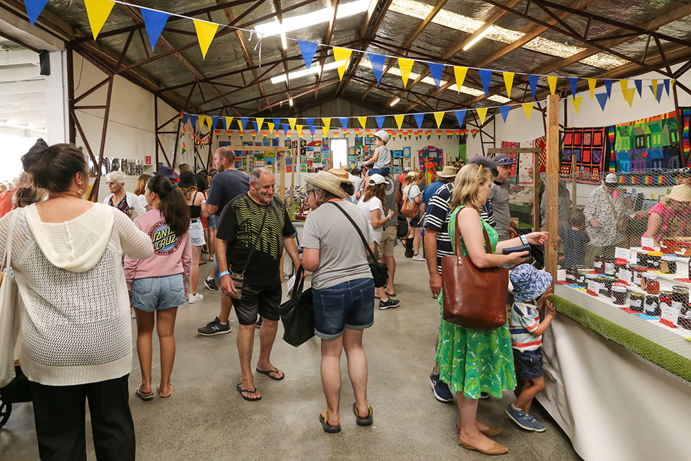 The indoor exhibits were popular at the 2021 Helensville Show