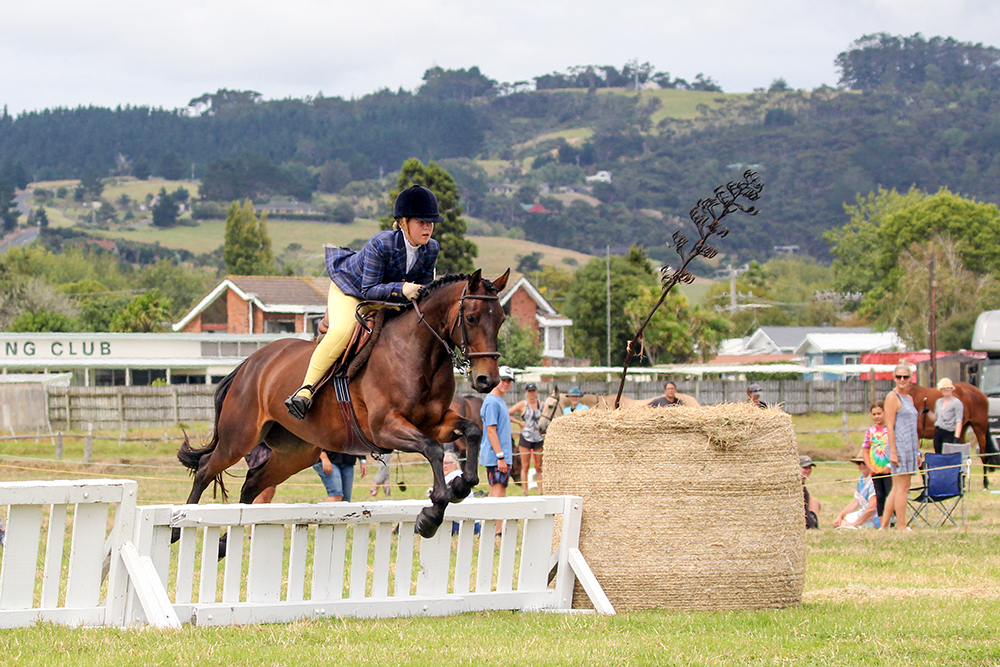 Jumping action at the 2021 Helensville Show