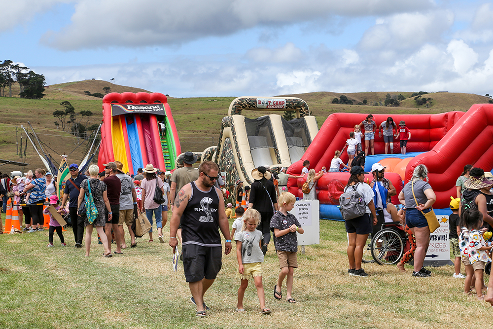 The carnival area was hugely popular at the 2021 Helensville Show