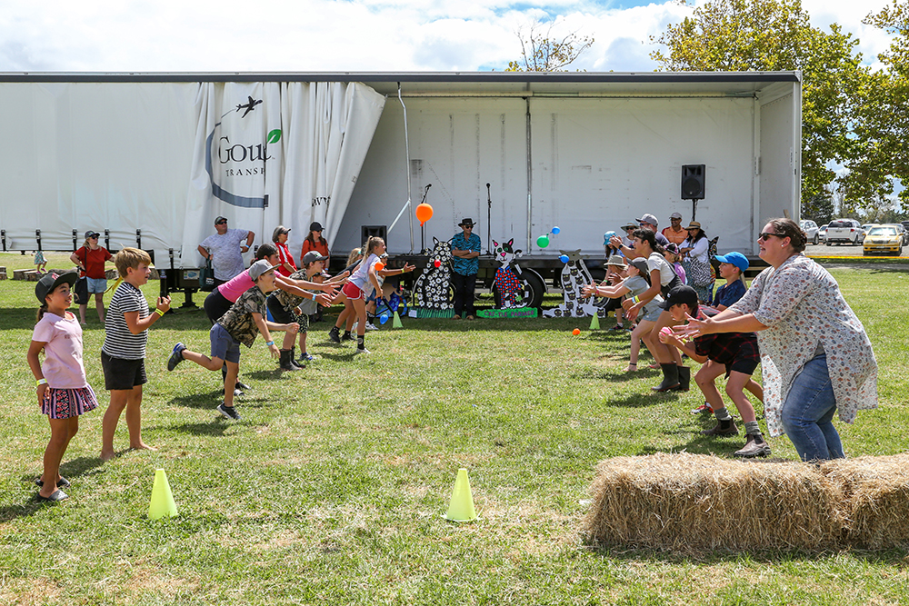 Water balloon toss fun at the 2021 Helensville Show
